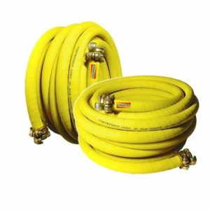 "2 X Compressor Air Hose 3/4"" Plant Breaker 15 M Meter & Rubber Couplings (50ft)"
