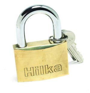 50mm Heavy Duty Brass Security Padlock & 3 Keys Gate Garage Solid Hilka 70700050