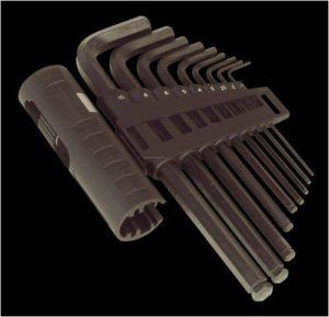 Ball End Hex Key Set & Handle 10 Pc Metric Piece Allen Keys Sealey AK6155 NEW