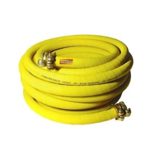 "Compressor Air Hose 3/4"" Plant Breaker 15 M Meter & Rubber Couplings (50ft)"