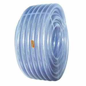 """1/4"""" Dump-hose Powerflush 6mm Powerflushing Clear Braided Water Compressor Air, Clear Braided Hose PVC 6mm (1/4"""") 30 Metre Coil Water, Air Compressor, Chemical, Sewage, PumpManufactured from a top quality crystal clear """"virgin"""" PVC compound. This hose is ideal for factory airlines, fluid systems and many industrial applications. Reinforced with a tensile quality polyester yarn, this hose offers high working pressures and extreme flexibility, Applications:, , Water supply and draining, Transfer of various fluids and powder, Supplying water, gas, oil etc in agriculture and industry, Characteristics, Excellent abrasion resistance, Flexibility good, High resistance to alkalis/acids, Silicone free, Cadmium free, Low toxicity, Transparency excellent, Manufactured to comply with BS6066 & ISO5774, Durable, anti-cold proof, non-inflated, High flexibility, lightweight and easy to handle, No fissure phenomenon by UV rays and direct rays of the sun, Little expansion or contraction, Pressure rated to 9 bar, Temperature range: -20°c to +65°c,"""