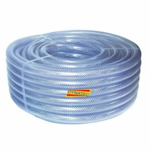 "1/4"" Dump-hose Powerflush 6mm Powerflushing Clear Braided Water Compressor Air, Clear Braided Hose PVC 6mm (1/4"") 30 Metre Coil Water, Air Compressor, Chemical, Sewage, PumpManufactured from a top quality crystal clear ""virgin"" PVC compound. This hose is ideal for factory airlines, fluid systems and many industrial applications. Reinforced with a tensile quality polyester yarn, this hose offers high working pressures and extreme flexibility, Applications:, , Water supply and draining, Transfer of various fluids and powder, Supplying water, gas, oil etc in agriculture and industry, Characteristics, Excellent abrasion resistance, Flexibility good, High resistance to alkalis/acids, Silicone free, Cadmium free, Low toxicity, Transparency excellent, Manufactured to comply with BS6066 & ISO5774, Durable, anti-cold proof, non-inflated, High flexibility, lightweight and easy to handle, No fissure phenomenon by UV rays and direct rays of the sun, Little expansion or contraction, Pressure rated to 9 bar, Temperature range: -20°c to +65°c,"