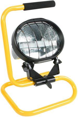 E709009 Floor Flood Halogen Light 300w - 500w Cable & Plug 240v Defender 240 Volt